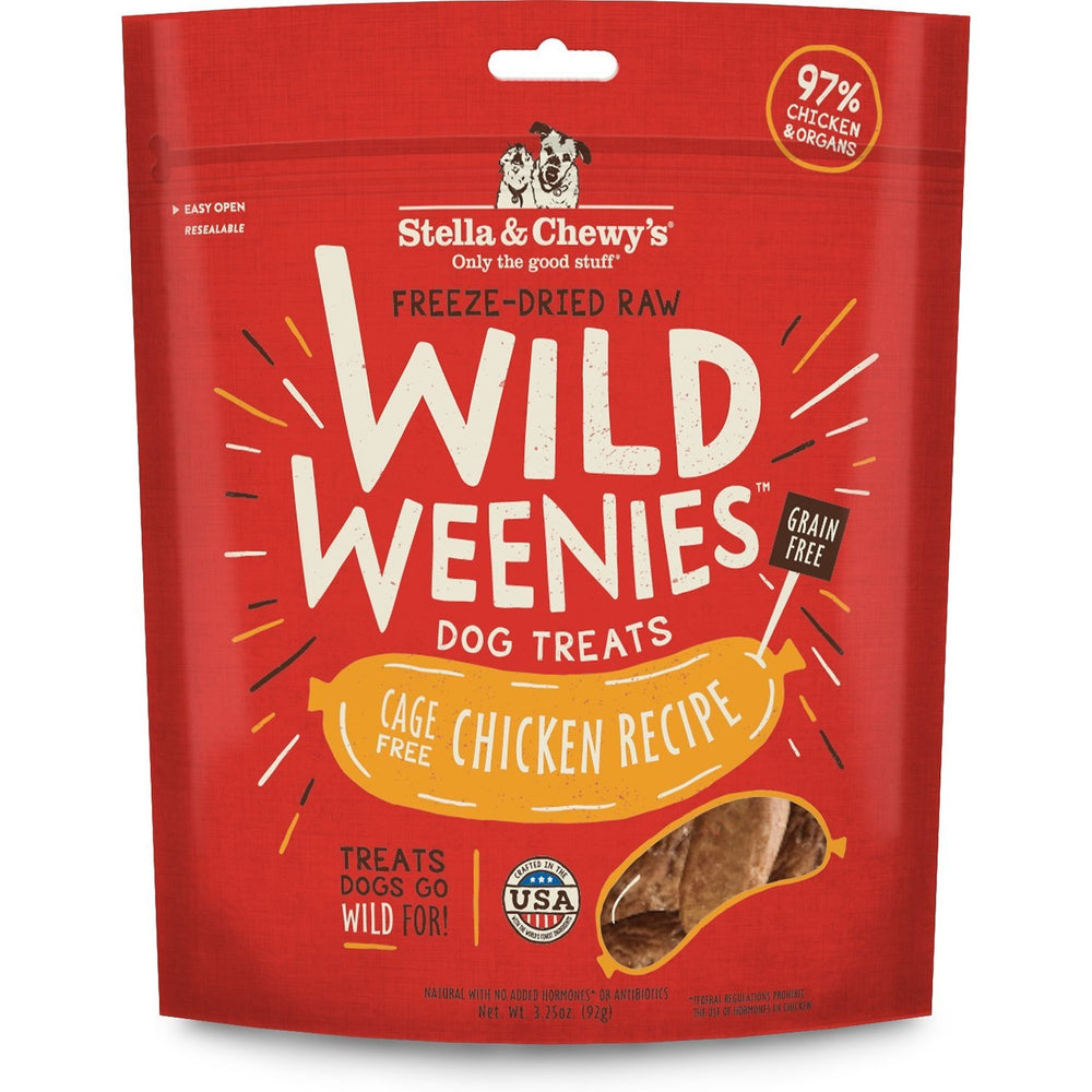 Stella & Chewy's Freeze Dried Raw Wild Weenies Cage-Free Chicken Recipe Dog Treats