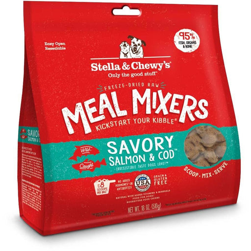 Stella & Chewy's Freeze-Dried Raw Savory Salmon & Cod Meal Mixers For Dogs