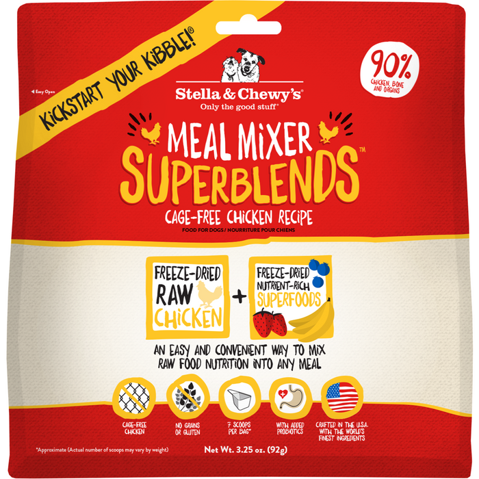Stella & Chewy's Freeze-Dried Raw Chicken SuperBlends Meal Mixers For Dogs