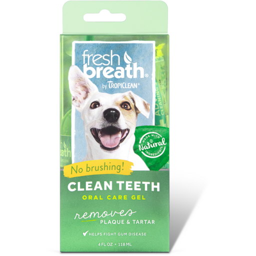 <b>15% OFF:</b> TropiClean Fresh Breath Clean Teeth Gel For Dogs