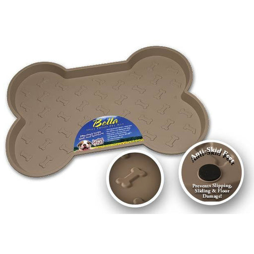 Loving Pets Tan Bella Spill-Proof Dog Mat