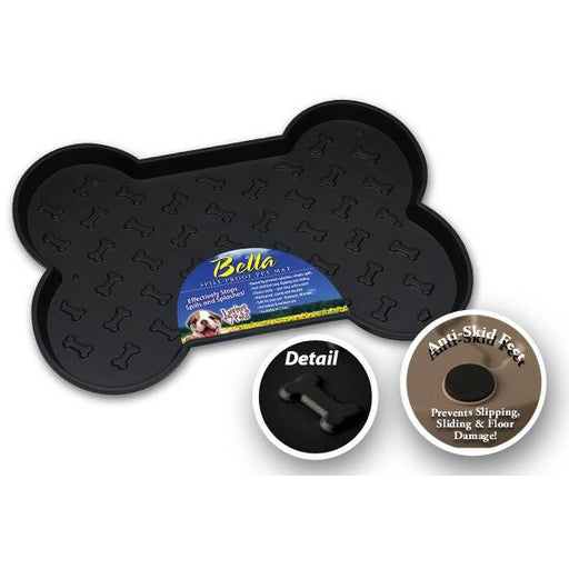 Loving Pets Black Bella Spill-Proof Dog Mat