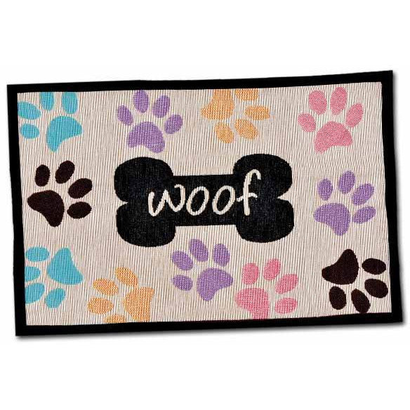Loving Pets Woof with Multi Paws Bella Fashion Mat