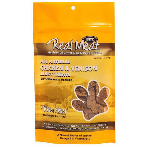 <b>5% OFF:</b> Real Meat Grain Free Chicken & Venison Jerky For Dogs