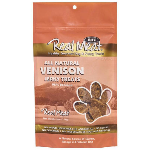 <b>5% OFF:</b> Real Meat Grain Free Venison Jerky For Dogs