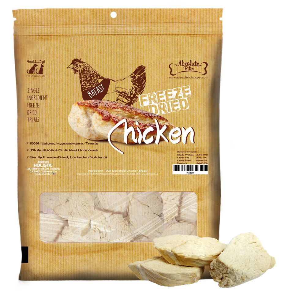 Absolute Bites Freeze Dried Chicken Breast