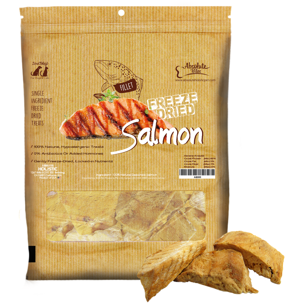 Absolute Bites Freeze Dried Salmon Fillet