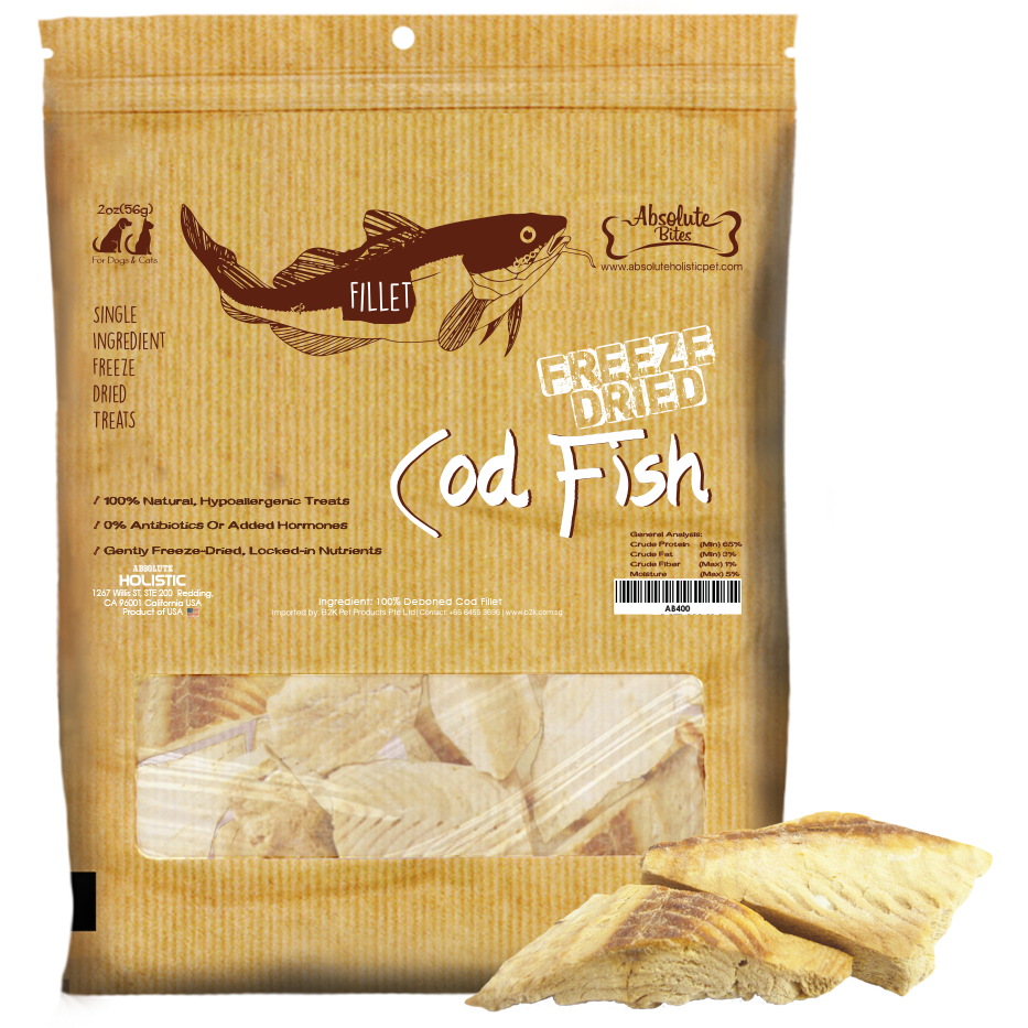Absolute Bites Freeze Dried Cod Fish