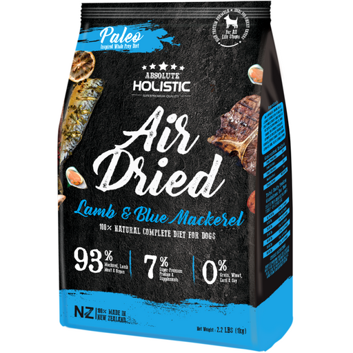 Absolute Holistic Air Dried Blue Mackerel & Lamb Dry Dog Food