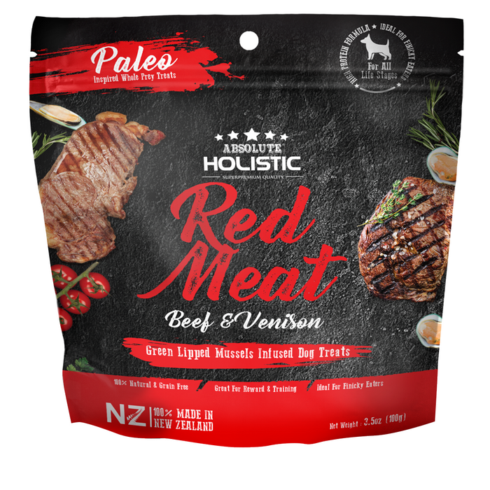 Absolute Holistic Air Dried Beef & Venison Dog Treats