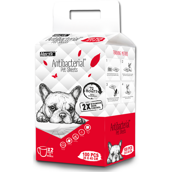[PAWSOME] <b>BUY 1 FREE 1: </b> Absolute Pet Absorb Plus Anti-Bacteria Small Pet Sheets (100pcs)