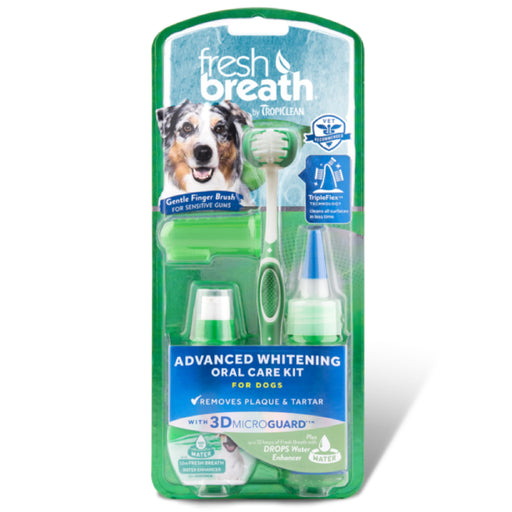 <b>15% OFF:</b> TropiClean Fresh Breath Advanced Whitening Oral Care Kit - With 3D Micro Guard