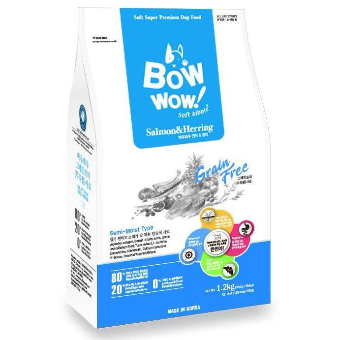 Bow Wow Grain Free Salmon & Herring Soft Kibble