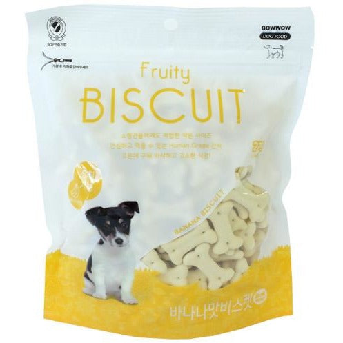 Bow Wow Banana Fruity Biscuit For Dogs