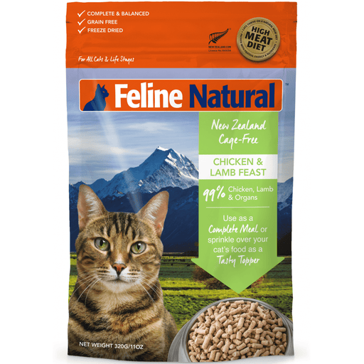 <b>20% OFF:</b> Feline Natural Freeze Dried Chicken & Lamb Feast