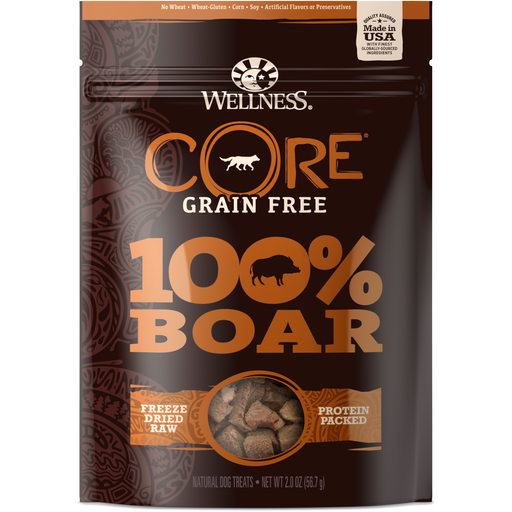 <b>20% OFF:</b> Wellness CORE Grain Free 100% Boar Freeze Dried Dog Treats
