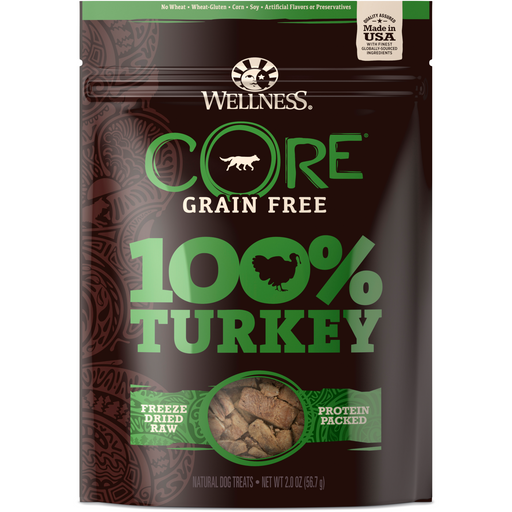 <b>20% OFF:</b> Wellness CORE Grain Free 100% Turkey Freeze Dried Dog Treats