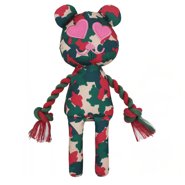 Lovelly Creations Camouflage Series - Pink Dog Toy