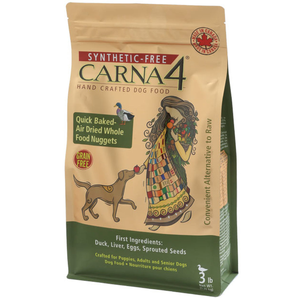<b>20% OFF:</b> Carna4 Grain Free Quick Baked Air Dried Duck Nuggets Dry Dog Food
