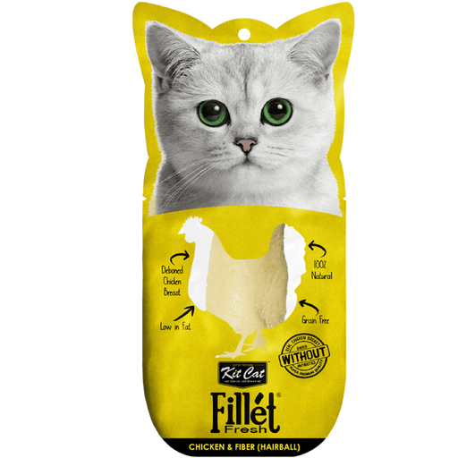 Kit Cat Fillet Fresh Chicken & Fiber (Hairball) Cat Treats