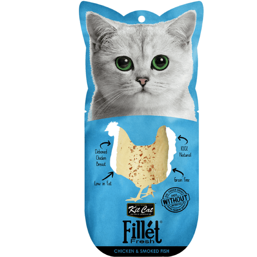 Kit Cat Fillet Fresh Chicken & Smoked Fish Cat Treats