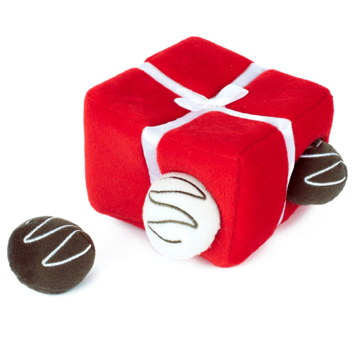 ZippyPaws Zippy Burrow Box Of Chocolates Toy