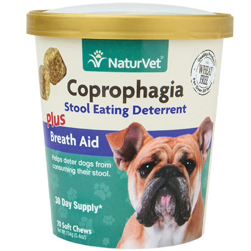 <b>20% OFF:</b> NaturVet Coprophagia Stool Eating Deterrent Plus Breath Aid Soft Chews