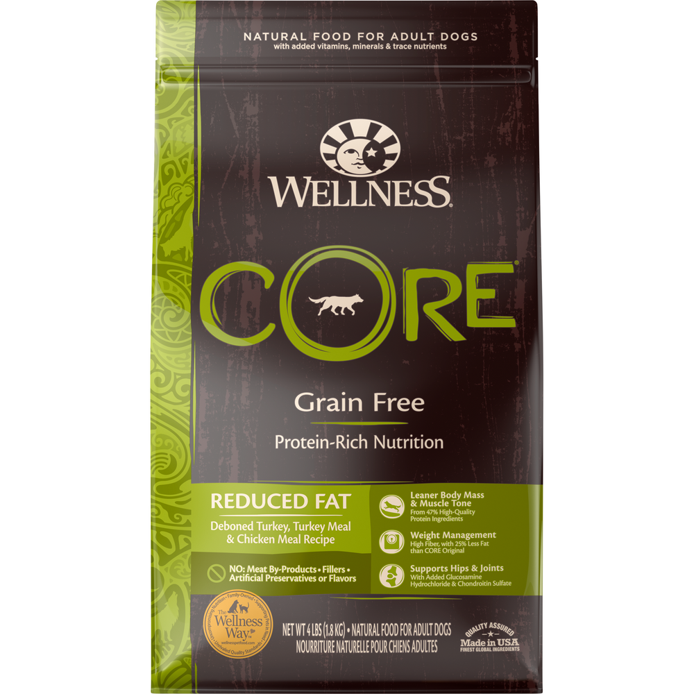 <b>20% OFF + FREE TREATS: </b> Wellness CORE Grain Free Reduced Fat Adult Dry Dog Food
