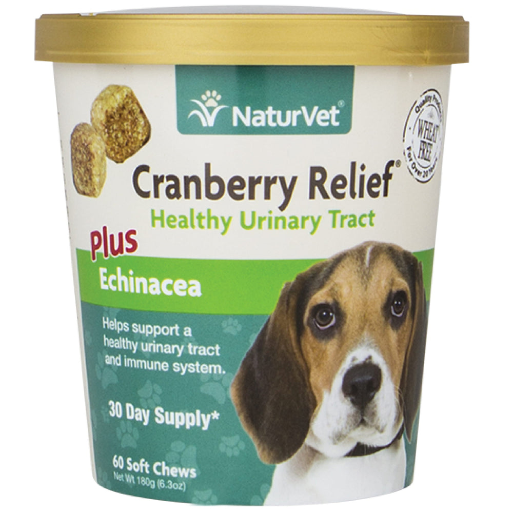 <b>20% OFF:</b> NaturVet Cranberry Relief® Plus Echinacea Soft Chew Cup