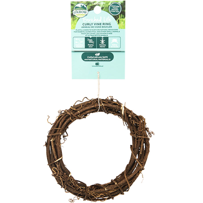 <b>20% OFF:</b> Oxbow Enriched Life Natural Chews Curly Vine Ring