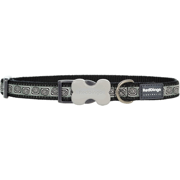 Red Dingo Hypno Black Bucklebone Dog Collar