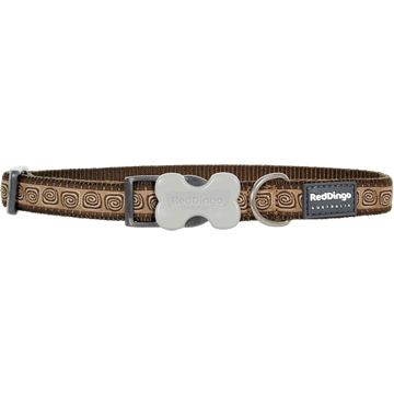Red Dingo Hypno Brown Bucklebone Dog Collar