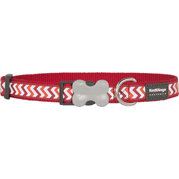 Red Dingo Reflective Ziggy Red Bucklebone Dog Collar