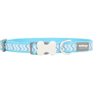Red Dingo Reflective Ziggy Turquoise Bucklebone Dog Collar