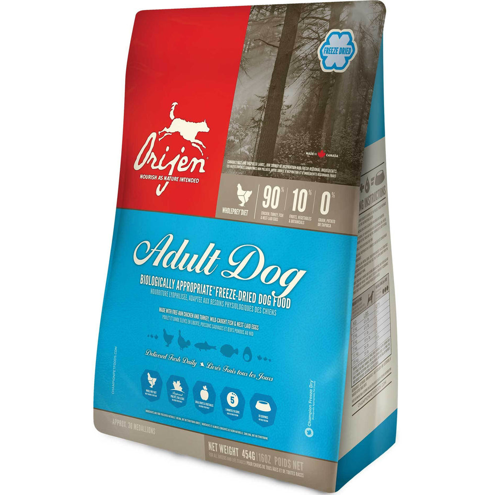 Orijen Freeze-Dried With Free-Run Chicken & Turkey Plus Wild-Caught Herring & Flounder Adult Dog Food