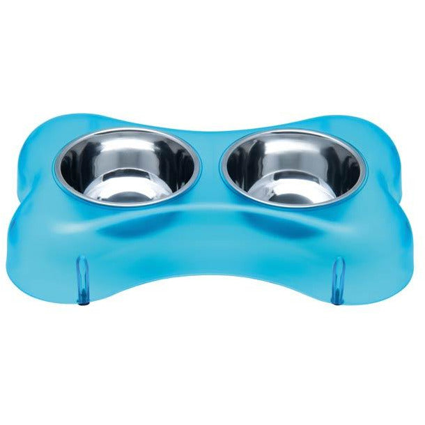 Loving Pets Aqua Osso Dolce Bone-Shaped Diners