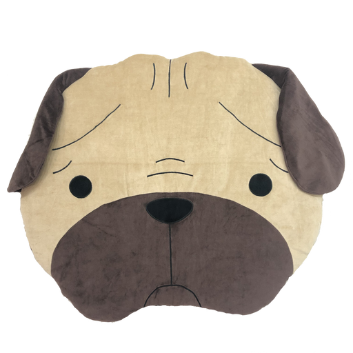 Hey Cuzzies Organic Cotton Pug Head Day Bed