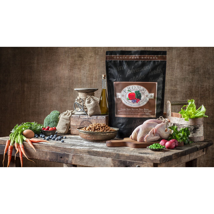 <b>15% OFF + FREE TREATS: </b> Fromm Grain Free Game Bird Dry Dog Food