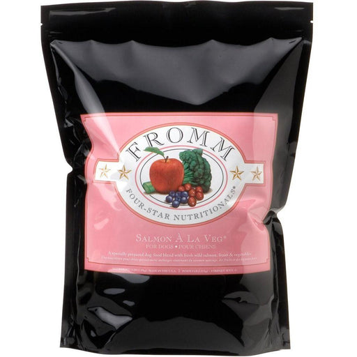 <b>10% OFF + FREE TREATS: </b> Fromm Salmon A La Veg Dry Dog Food