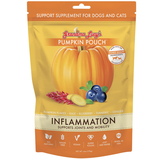 <b>10% OFF:</b> Grandma Lucy's Pumpkin Pouch Inflammation (Supports Joint & Mobility) Supplement For Dogs & Cats
