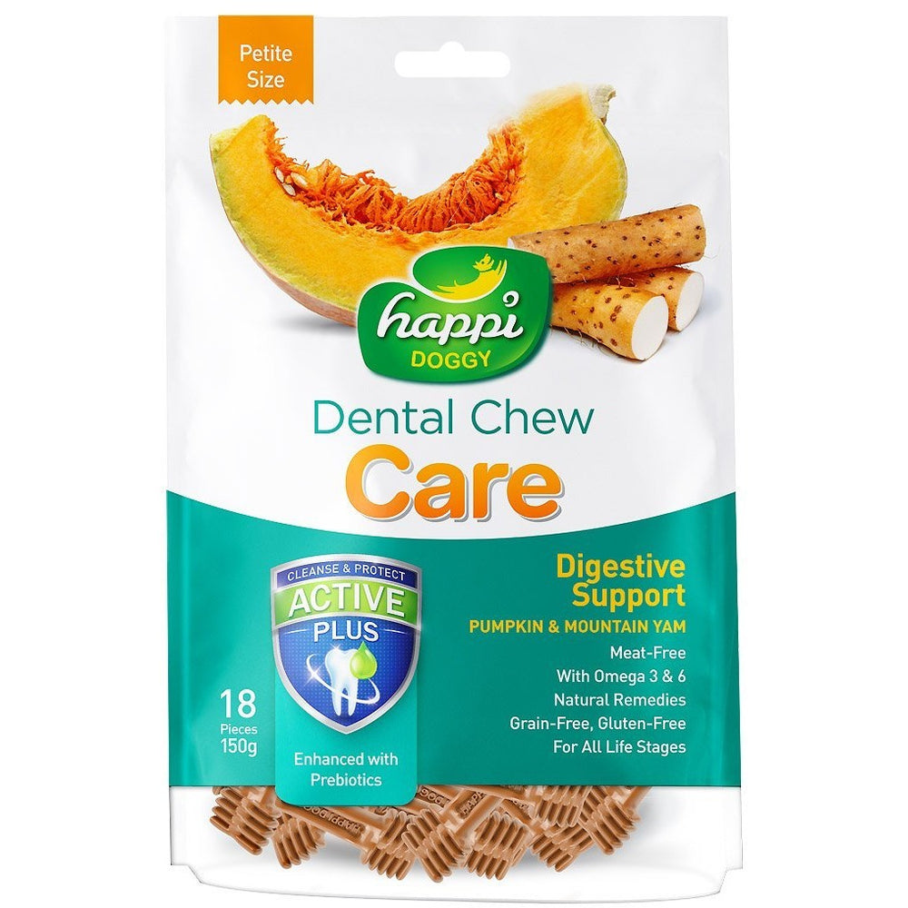 Happi Doggy Digestive Support Pumpkin & Mountain Yam Dental Chews