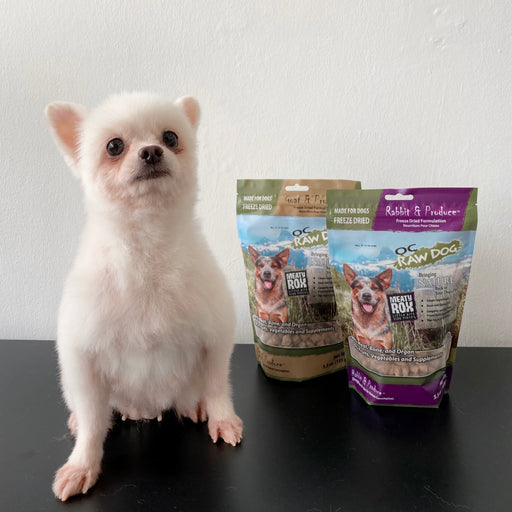 [PAWSOME DEAL] <b>2 FOR $54:</b> OC Raw Dog Meaty Rox Freeze Dried Raw Goat/Rabbit Topper For Dogs