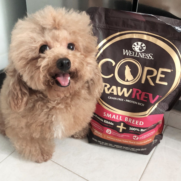 <b>20% OFF:</b> Wellness CORE Grain Free RawRev Original Small Breed Deboned Turkey, Turkey Meal & Chicken Meal + Freeze Dried Turkey Dry Dog Food
