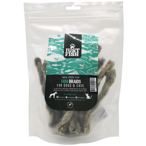 <b>10% OFF:</b> Just Fish Fish Braids Treats For Dogs & Cats