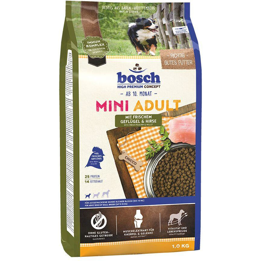 Bosch High Premium Concept Poultry & Millet Mini Adult Dry Dog Food