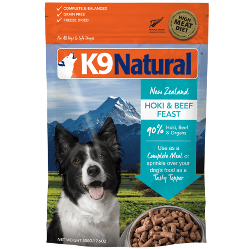 <b>20% OFF:</b> K9 Natural Freeze Dried Raw Hoki & Beef Feast
