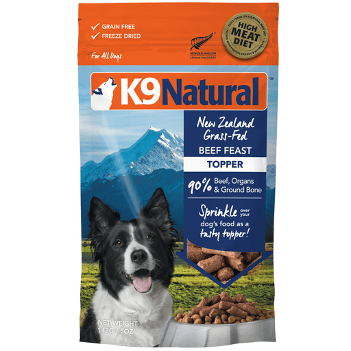 <b>20% OFF:</b> K9 Natural Freeze Dried Raw Beef Feast Topper