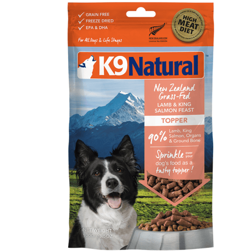 <b>20% OFF:</b> K9 Natural Freeze Dried Raw Lamb & Salmon Feast Topper