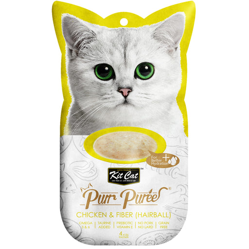 Kit Cat Purr Puree Grain Free Chicken & Fiber (Hairball) Cat Treats