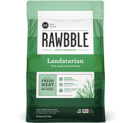 [PAWSOME] <b>15% OFF + FREE 128G FREEZE DRIED: </b> Bixbi RAWBBLE® Ancient Grain Landatarian Recipe With Pork, Lamb & Goat Dry Dog Food